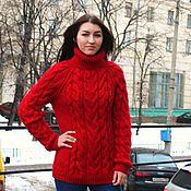 """Одежда ручной работы. Ярмарка Мастеров - ручная работа свитер """"Уют""""красный. Handmade."""