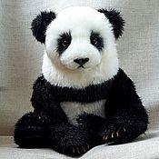 Куклы и игрушки handmade. Livemaster - original item Realistic moving toy Teddy bear still life Panda Akio. Handmade.