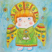 Картины и панно ручной работы. Ярмарка Мастеров - ручная работа Солнечный Ангел. Handmade.