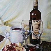 """акварель """"Любимое вино""""/оформлена/"""