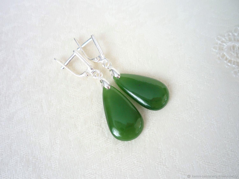Earrings of jade, Earrings, Irkutsk,  Фото №1