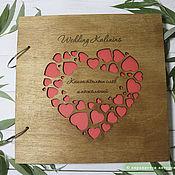 handmade. Livemaster - original item Wooden wedding book for wishes. Handmade.