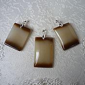 Украшения handmade. Livemaster - original item pendants made of honey jade. Handmade.