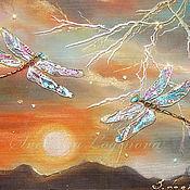 Картины и панно ручной работы. Ярмарка Мастеров - ручная работа Солнце и Молния. Handmade.