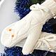 """Варежки, митенки, перчатки ручной работы. Ярмарка Мастеров - ручная работа. Купить Варежки """"Совушки"""". Handmade. Белый, варежки совы"""