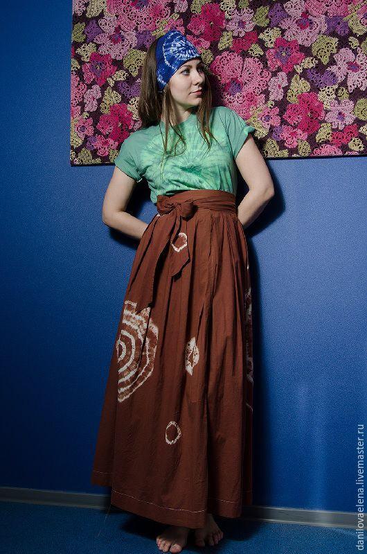 Юбки ручной работы. Ярмарка Мастеров - ручная работа. Купить Авторская юбка . распродажа. Handmade. Комбинированный, юбка в пол, окрашивание