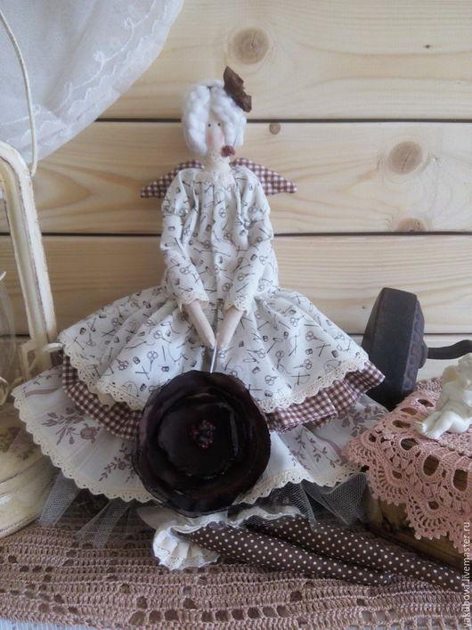 Куклы Тильды ручной работы. Ярмарка Мастеров - ручная работа. Купить Шоколадный ангел. Handmade. Коричневый, кофе, интерьерная кукла