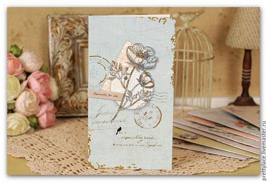 Открытки на все случаи жизни ручной работы. Ярмарка Мастеров - ручная работа. Купить Открытка с декоративными элементами и конвертом. Handmade.