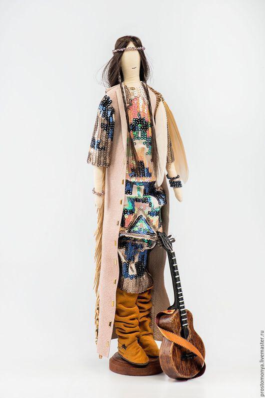 Коллекционные куклы ручной работы. Ярмарка Мастеров - ручная работа. Купить Певица Кантри. Handmade. Бледно-розовый, текстильная кукла