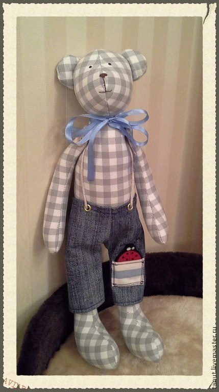 Куклы Тильды ручной работы. Ярмарка Мастеров - ручная работа. Купить медведь тильда. Мишка. Handmade. Серый, мишка