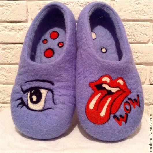 Тапочки валяные. Ярмарка мастеров. Обувь ручной работы. Купить тапочки валяные. Валяные тапочки Поп -Арт. Handmade. Cordero.