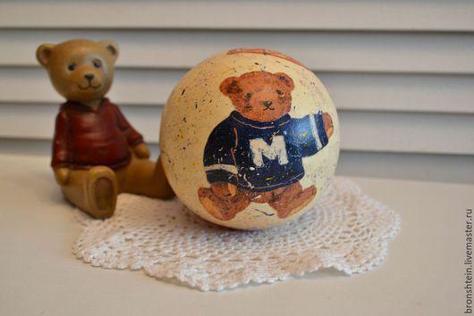"""Музыкальные шарики ручной работы. Ярмарка Мастеров - ручная работа. Купить музыкальный шар деревянная игрушка - """"мишки в ретро стиле"""". Handmade."""
