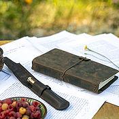 Канцелярские товары handmade. Livemaster - original item Leather travel notebook with pockets. Handmade.