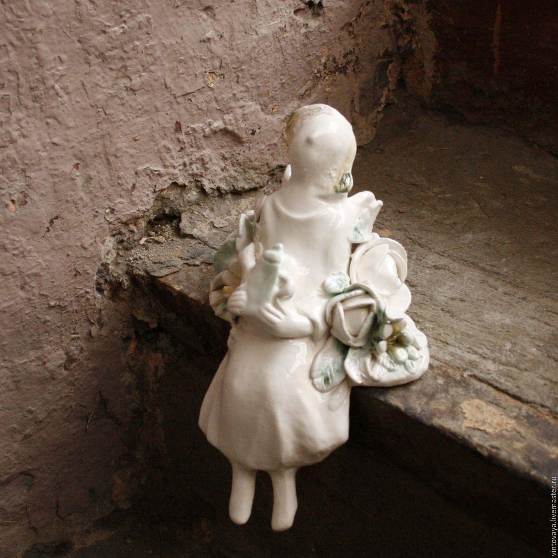 Статуэтки ручной работы. Ярмарка Мастеров - ручная работа. Купить Ангел Скульптура керамика. Handmade. Керамика, подарок