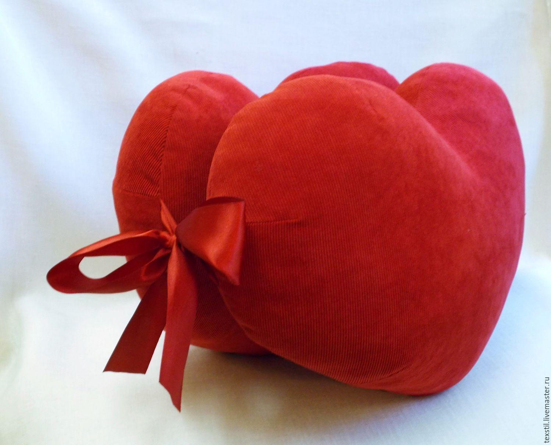 Сделать сердце подушка