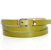 Аксессуары handmade. Livemaster - original item Leather green belt. Handmade.