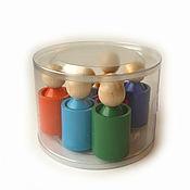 "Куклы и игрушки handmade. Livemaster - original item Сортер ""Человечки"" (Радуга) в упаковке. Handmade."