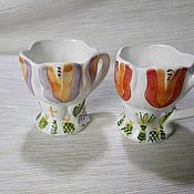 Сувениры и подарки handmade. Livemaster - original item Holy water Cup made of faience. The Cup Of A Tulip.. Handmade.