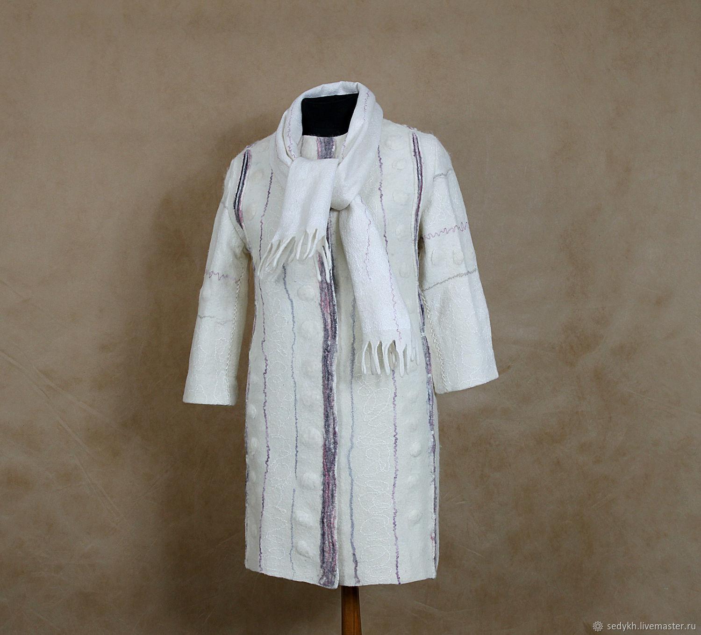 eb9b877e758 Ярмарка Мастеров - ручная работа. Купить Пальто белое. Handmade Верхняя  одежда ручной работы. Пальто белое. Седых Елена  SEDYShKA  (Sedykh)