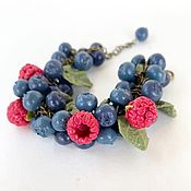 Украшения handmade. Livemaster - original item Bracelet of blueberries