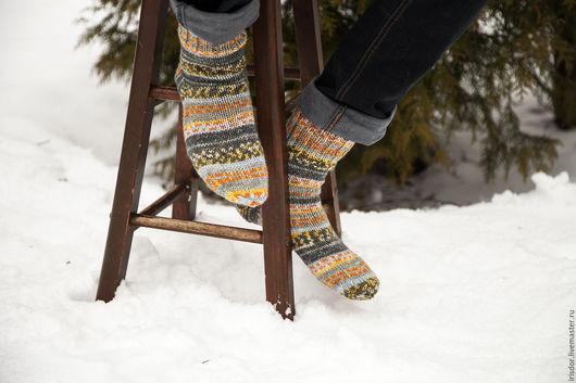 Носки, носки мужские, мужские носки, носки вязаные, аксессуары, ручная работа