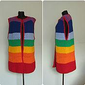 handmade. Livemaster - original item Coat sleeveless