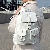 Сумки и аксессуары handmade. Livemaster - original item Backpack female leather white ice Cream Mod R12-141-2. Handmade.