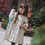 Платья ручной работы. Ярмарка Мастеров - ручная работа Платье для девочки льняное Эмма из умягченного льна. Handmade.