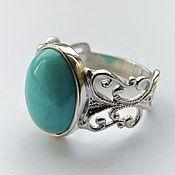 Украшения handmade. Livemaster - original item Pauline ring-turquoise, 925 silver. Handmade.