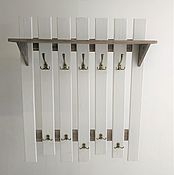 Для дома и интерьера handmade. Livemaster - original item Clothes hanger for wall with shelf white