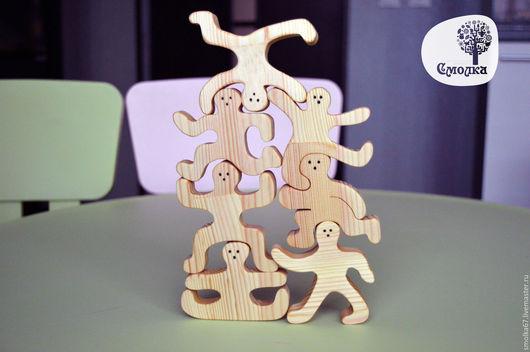 """Развивающие игрушки ручной работы. Ярмарка Мастеров - ручная работа. Купить Балансир """"Человечки"""". Развивающая деревянная игрушка.. Handmade."""