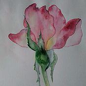 Картины и панно ручной работы. Ярмарка Мастеров - ручная работа Бутон розы. Handmade.