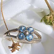 Винтаж handmade. Livemaster - original item The Far Eastern Frontier. Delicate ring with topaz. Handmade.