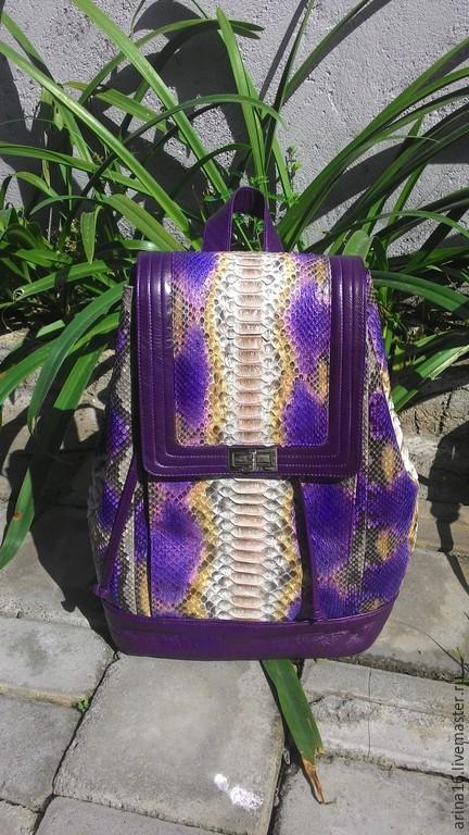 Рюкзаки ручной работы. Ярмарка Мастеров - ручная работа. Купить Рюкзак фиолетовый. Handmade. Разноцветный, рукзак женский, рюкзак городской