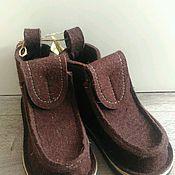 """Обувь ручной работы. Ярмарка Мастеров - ручная работа Валенки, модель """"Шоколад"""". Handmade."""