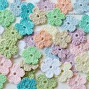 Материалы для творчества handmade. Livemaster - original item Knitted flowers mini. Handmade.