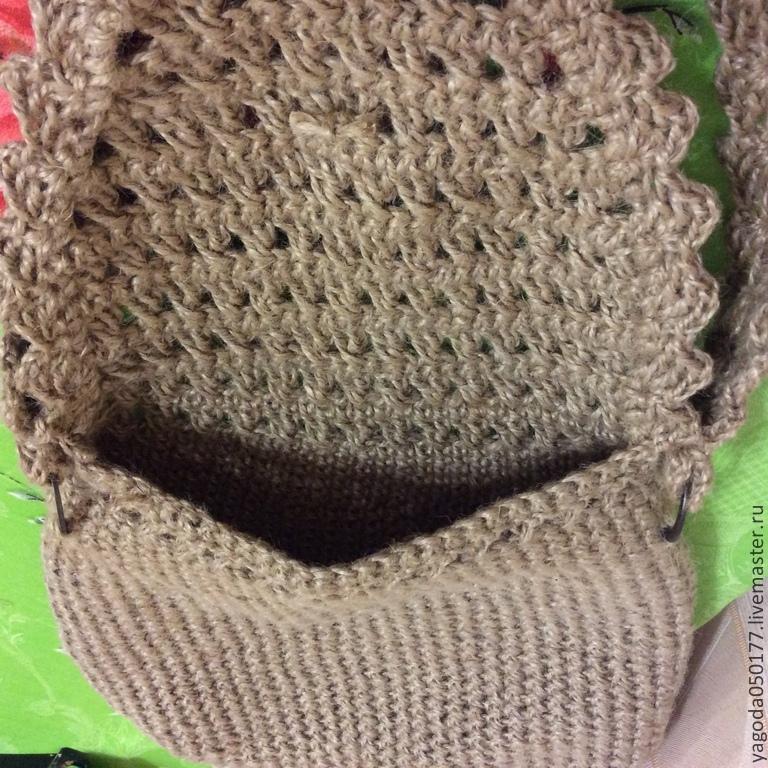 39561d92dfaf Сумочка вязаная с кисточками из джута – купить в интернет-магазине ...