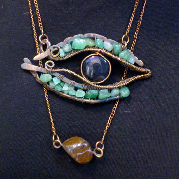 Subcultures handmade. Livemaster - original item The pendant is a dragon Eye copper agate and aventurine. Handmade.