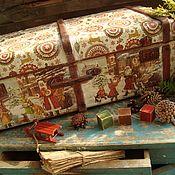 """Подарки к праздникам ручной работы. Ярмарка Мастеров - ручная работа """"Новогодние истории"""" чемодан. Handmade."""