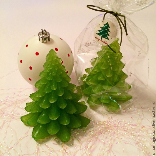 Мыло ручной работы. Ярмарка Мастеров - ручная работа. Купить мыло Новогодняя елочка. Handmade. Зеленый, мыло ручной работы
