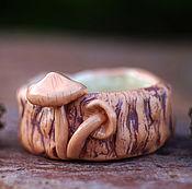 """Посуда ручной работы. Ярмарка Мастеров - ручная работа Пиала керамика грибы """"Опята"""". Handmade."""