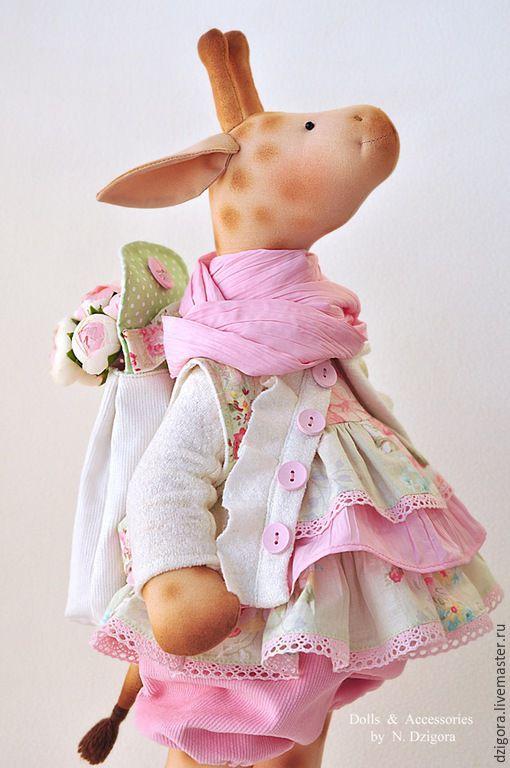 Игрушки животные, ручной работы. Ярмарка Мастеров - ручная работа. Купить Подружка для Евы. Жирафа игрушка текстильная. Handmade. Кремовый