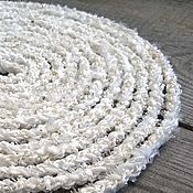 Украшения handmade. Livemaster - original item Beads Scarf Lariat Belt Harness Bracelet Braided Knitted White Boho. Handmade.