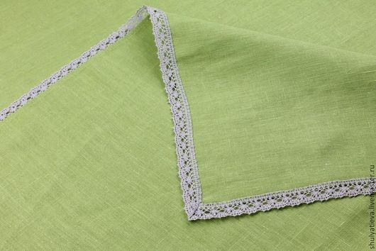 """Текстиль, ковры ручной работы. Ярмарка Мастеров - ручная работа. Купить Скатерть """"Мохито"""". Handmade. Зеленый, льняная скатерть"""