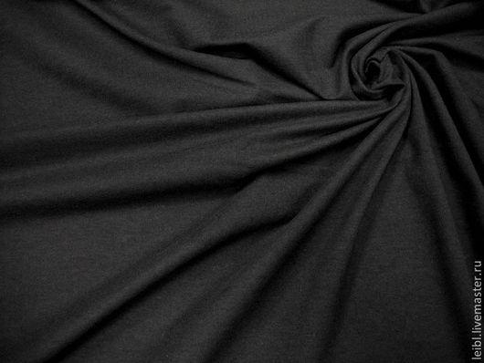 Шитье ручной работы. Ярмарка Мастеров - ручная работа. Купить ВИСКОЗНЫЙ ТРИКОТАЖ ( черный ). Handmade. Черный