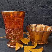 Винтаж handmade. Livemaster - original item Carnival glass. Fruit bowl/candy bowl. Handmade.