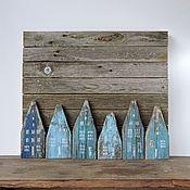 Картины и панно ручной работы. Ярмарка Мастеров - ручная работа Снег в Амстердаме - деревянная картина. Handmade.