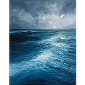 Картины и панно handmade. Livemaster - original item Oil painting Sea Storm Seascape. Handmade.