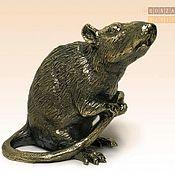 Статуэтка ручной работы. Ярмарка Мастеров - ручная работа Статуэтка: статуэтка Крыса сидит. Handmade.