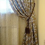Для дома и интерьера ручной работы. Ярмарка Мастеров - ручная работа Шторы Голубой Вензель. Handmade.